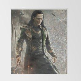 Loki Laufeyson Mosaic Throw Blanket