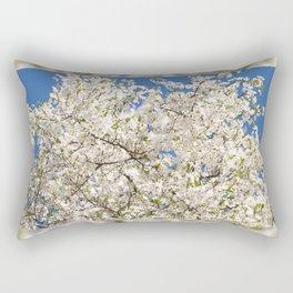 white flowers of Cerasus Rectangular Pillow