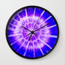Radial Cymaglyph Indigo Wall Clock