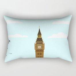 Big Ben Blue Skies Rectangular Pillow