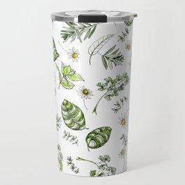 Scattered Garden Herbs Travel Mug
