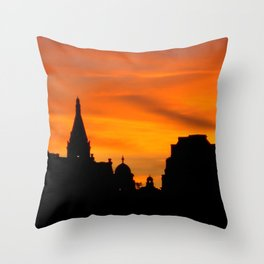 London Sunset in sillouette bywhacky Throw Pillow