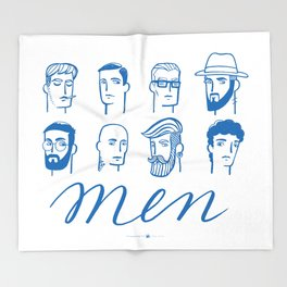 Men (are not all the same) Throw Blanket