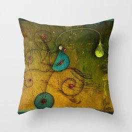 Lampbird Throw Pillow