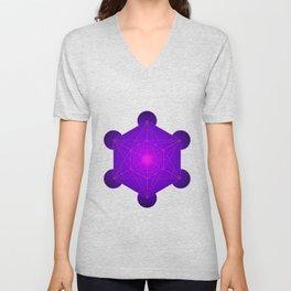 Metatron   Cube   Secret Geometry   Platonic   Matrix   Protects children Unisex V-Neck