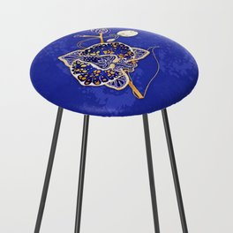 Egyptian Blue :: Orchid Counter Stool