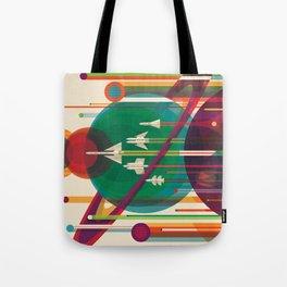 Retro Space Poster - The Grand Tour Tote Bag