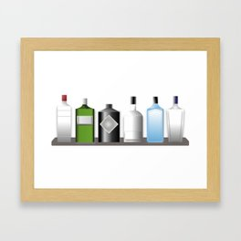 Gin Bottles Framed Art Print