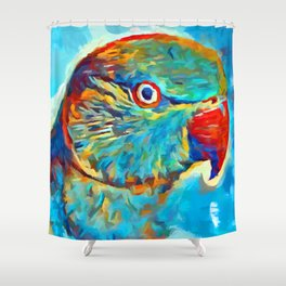 Ring-Necked Parakeet Shower Curtain