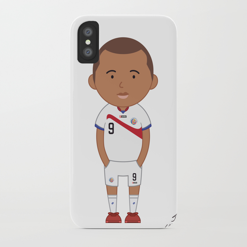 Joel Campbell - Costa Rica - World Cup 2014 Phone Case by Toonsoccer PCS9027164