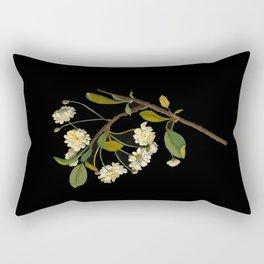 Prunus Cerasus Mary Delany Vintage Botanical Paper Flower Collage Rectangular Pillow