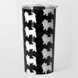 Westie Dog Pattern Travel Mug