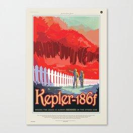 Kepler-186 : NASA Retro Solar System Travel Posters Canvas Print