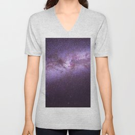 Purple Sky (Color) Unisex V-Neck