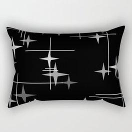 Mid Century Modern Stars (Black) Rectangular Pillow