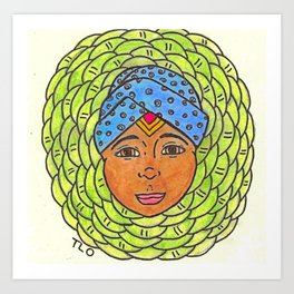 Cabbage Wrap Kid Art Print