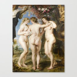 The Three Graces by Peter Paul Rubens, 1635 Canvas Print