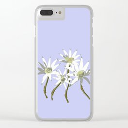 Flannel Flowers Actinotus helianthi Clear iPhone Case