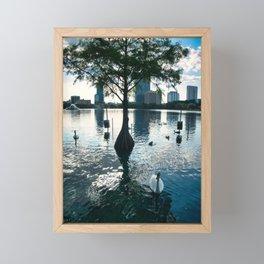 Birds at The Lake Framed Mini Art Print
