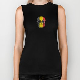 Baby Owl with Glasses and Belgian Flag Biker Tank
