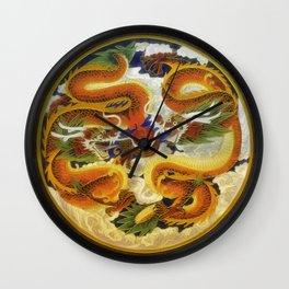 Chinese Dragons Wall Clock