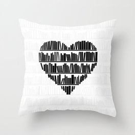 Book Lover II Throw Pillow