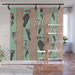 Woodpeckers Pecking Wall Mural