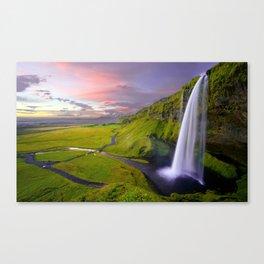 Seljalandsfoss Waterfall, Iceland Canvas Print