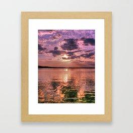 Broad Bay Sunset Framed Art Print