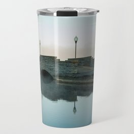 Cazenovia Lake On A Misty Morning Travel Mug