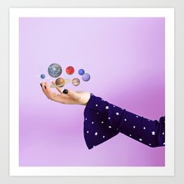 The Whole Universe is in the Palm of Your Hands Art Print