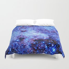 GAlaxy Periwinkle Stars Duvet Cover