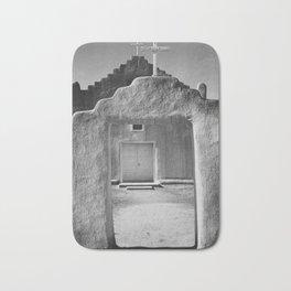 Ansel Adams - Taos Pueblo Church Bath Mat