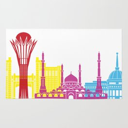 Astana skyline pop Rug