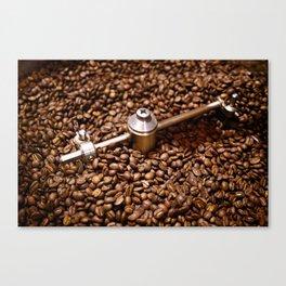 Freshly roasted coffee beans Canvas Print