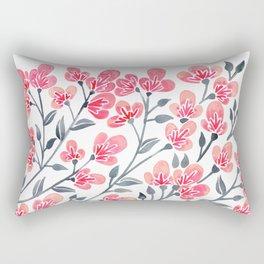 Cherry Blossoms – Pink & Black Palette Rectangular Pillow