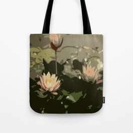 Waterlily Abstract Tote Bag