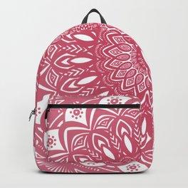 Red Wine Color Mandala Minimal Minimalistic Simple (Yet Bold) Backpack