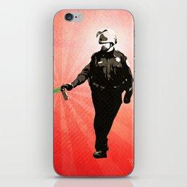 Pepper Spray Cop Rainbow - Pop Art iPhone Skin