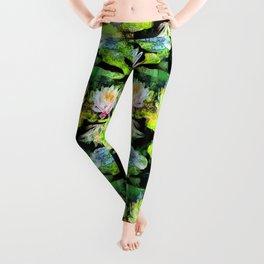 Eight Waterlilies Leggings