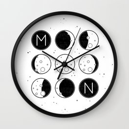 The Moon Phases Wall Clock