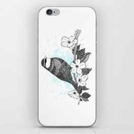 Bird and cherry blossoms iPhone Skin