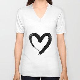 Ink Heart Minimal Fashion Stylish Unisex V-Neck