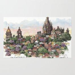 Sunset over San Miguel de Allende Rug