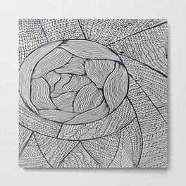 Zentangle #8 Metal Print