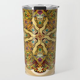 Mandala Sacred Rams - Bright Version Travel Mug