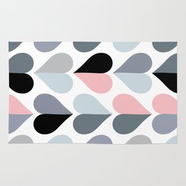 Love and Kisses in Pink and Grey Rug
