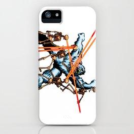 Yeti vs. Laser Skeletons iPhone Case