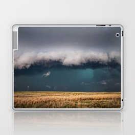 Small - Large Storm Towering Over Windmill in Texas Laptop & iPad Skin