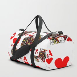 RED QUEEN OF HEARTS  & ACES PLAYING CARDS ARTWORK Duffle Bag